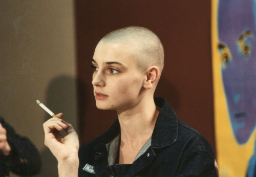 Sinead O'Connor at a Denver Press Conference in 1988 by Joe Beine